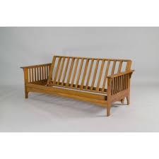 rustic log futon wayfair