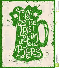 retro st patrick u0027s day typography poster with beer stock vector