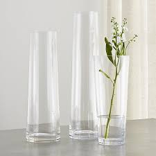 Wide Glass Cylinder Vase Palmetto Tall Glass Floor Vases Crate And Barrel