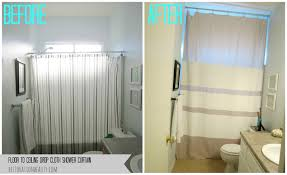 Shower Curtain To Window Curtain Restoration Beauty Floor To Ceiling Drop Cloth Shower Curtain