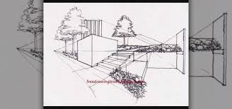 how to draw architectural landscape drawing u0026 illustration