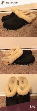 ugg boots sale cloggs ugg cloggs slides mules wood bottom clogs size 10 and