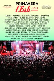 Schlafzimmerm El Italienisch Das Primavera Club Musikfestival Barcelona Ist Wieder Da