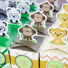 jungle baby shower favors baby shower favors safari animal jungle favor box candy box