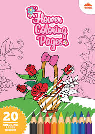 file flower coloring pages printable coloring book kids pdf
