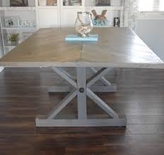 how to make a dining room table the modern take on the classic i went with a skinnier tabletop because i felt it allowed that modern feel to shine through a little more a big and bulky rustic table is gorgeous but is