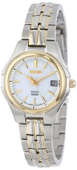 gold tone bracelet watches images Seiko women 39 s sut038 two tone stainless steel solar jpg
