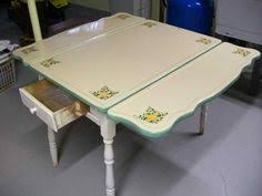 Antique Enamel Top Table S Drop Leaf Kitchen Table Heavy - Metal kitchen table