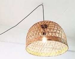 Ceiling Lamp Plug In by Plug In Pendant Etsy