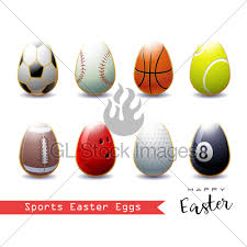 sports easter eggs happy easter collection of different sports easter eggs gl