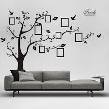 Large Home Decor Large Size Black Family Photo Frames Tree Wall Stickers Diy Home