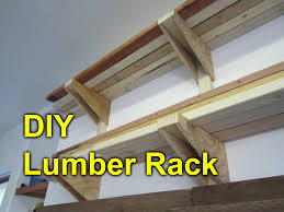 How To Build Garage Storage Shelves Plans by Garage Lumber Rack Easy Cheap Diy Project Youtube