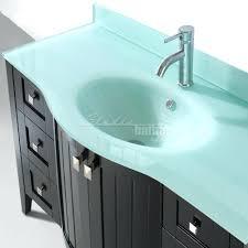 Bathroom Vanities With Glass Tops Sinks Frosted Glass Sink Top Countertop Custom Mount Bathroom