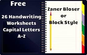 free handwriting worksheets a z handwriting worksheets capital