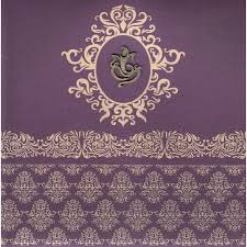 Wedding Invitation Hindu Ganesh Purple Wedding Invitations Indian Wedding Invitations Wedding Cards