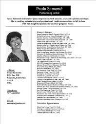Opera Resume Template Www Lindymyday Com Image 32078 Singer Resume Sampl