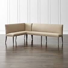 dining benches with backs crate and barrel