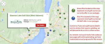 map of bc bc golf map and bc golf packages map for columbia canada