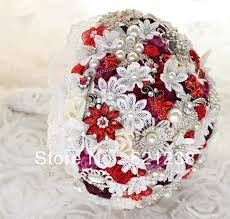Red Wedding Bouquets Flowers Jewelry Picture More Detailed Picture About 8 Inch Wine