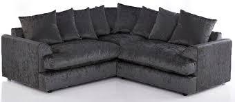 Corner Sofa Velvet Blake Crushed Velvet Corner Sofa Black High Quality Cheap Sofas