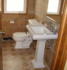 bathroom floor tile blue round white under mount sink oil rubbed