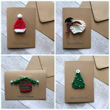 unique christmas cards knitted christmas card set unique christmas cards handmade