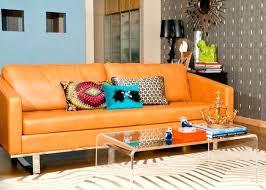 canapé couleur canape de couleur la couleur orange se dacvoile pour votre plaisir