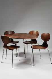 Arne Jacobsen Dining Chairs Arne Jacobsen Dining Table And Four Chairs 1965 Available