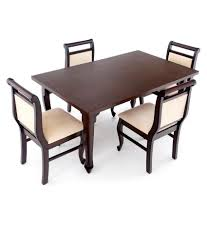 dining table set 4 seater 4 seater dining table set teak veneer finish buy 4 seater dining