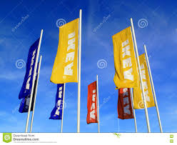 ikea advertising flags editorial photography image 82337347