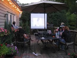 backyard movie projector home outdoor decoration