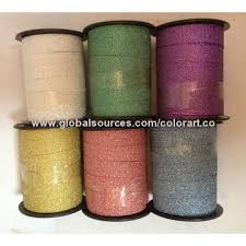 plastic ribbon glitter curling ribbon gold glitter ribbon global sources