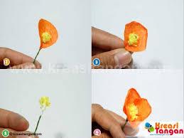 cara membuat bunga dengan kertas hias membuat bunga dari kertas krep kreasi tangan