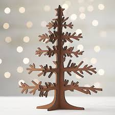 laser cut wood tree with crate and barrel
