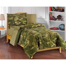 Full Size Bed Sheet Sets Dream Factory Geo Camo Full Size 7 Piece Bed In A Bag With Sheet