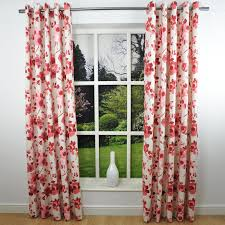Floral Curtains Curtain Floral Curtains Make The Room To More Eyelet