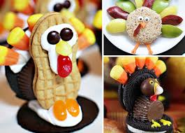 adorable turkey treats to make for on thanksgiving