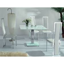 square glass table dining vo1 white glass square dining table with four dining chairs