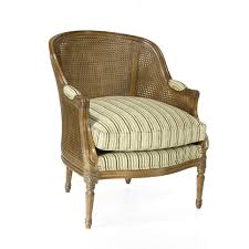 classic armchair fabric leather oak caned vallencourt