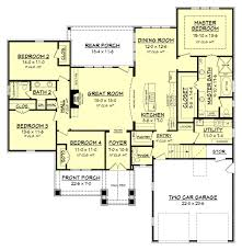 craftsman style house plan 4 beds 2 50 baths 2329 sq ft plan
