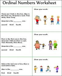 ordinal and cardinal numbers worksheets free math worksheets for