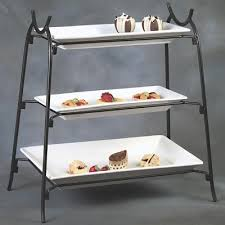 tiered serving stand american metalcraft is14 3 tier wrought iron stand tiered