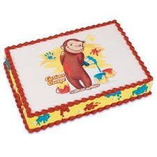 curious george birthday cake curious george monkey edible icing image cake
