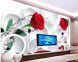 3d murals beibehang custom 3d murals rose flowers 3d tv background wall