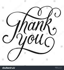 thank you vector calligraphic script style stock vector 471547958