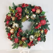 hydrangea wreath scarlet hydrangea decorated wreath christmas world