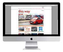toyota website brand storytelling across print digital and social channels sunday
