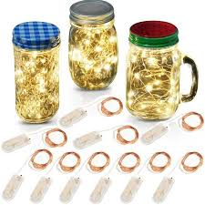 accmor led string lights cr2032 battery operated lights