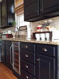 Black Kitchen Cabinets How To Paint Raised Paneled Doors D Lawless Hardware General