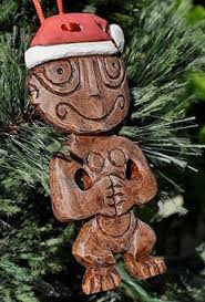 tiki christmas sign decor with glitter mele kalikimaka hawiian